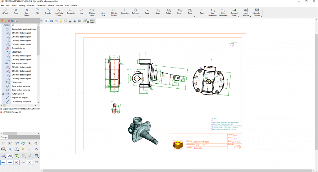 SolidFace CAD Drawing