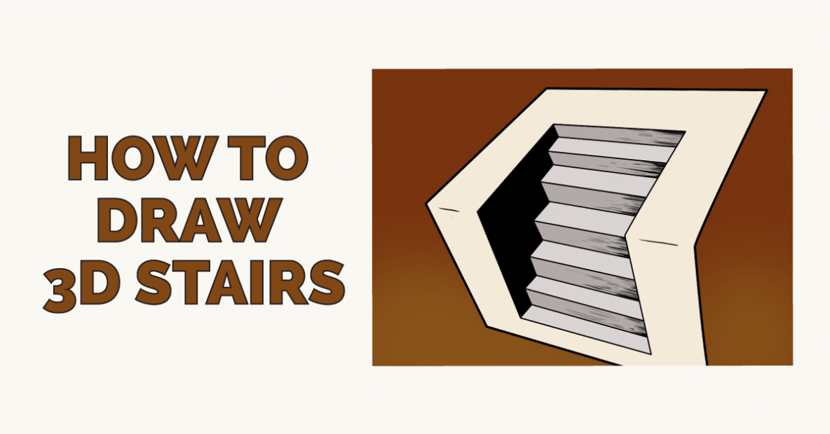 How To Draw Stairs Solidface 3d Perspective Stairs