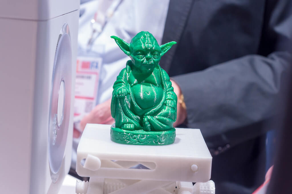 Character Yoda from Star Wars 3D printed.