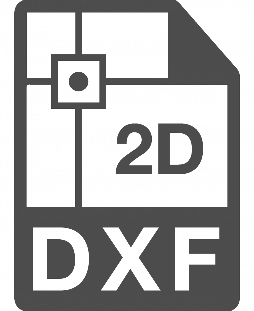 The DXF Format is ideal for 2D drawings
