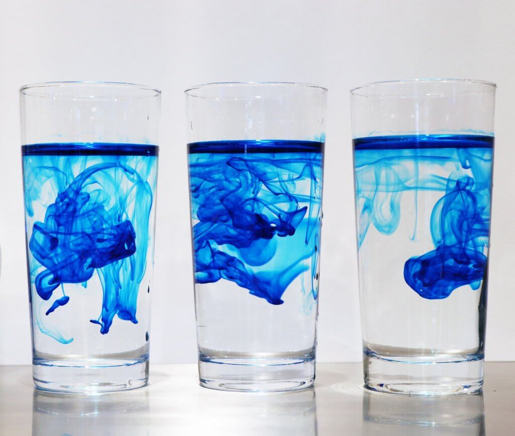 Different Iterations of a glass of water