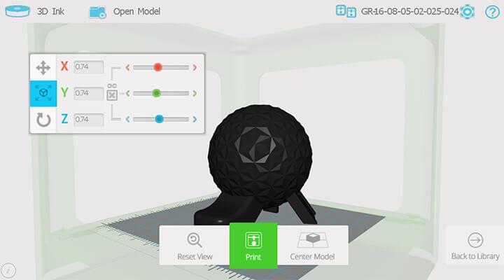 m3d software UI