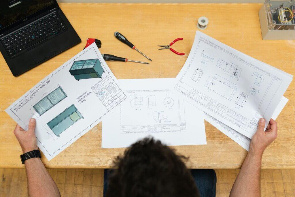 cad designer analyzing data