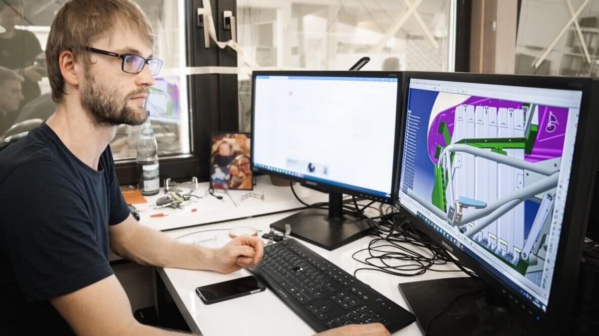 cad designer preparing a design
